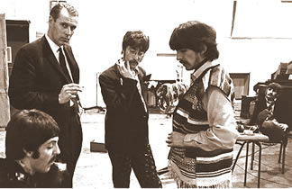 The Beatles with producer George Martin - 1967