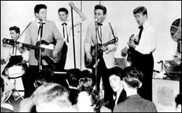 The Quarrymen with Paul McCartney and John Lennon