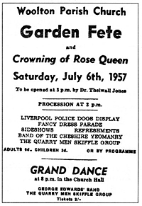 Garden Fete poster July 6, 1957 The Quarry Men