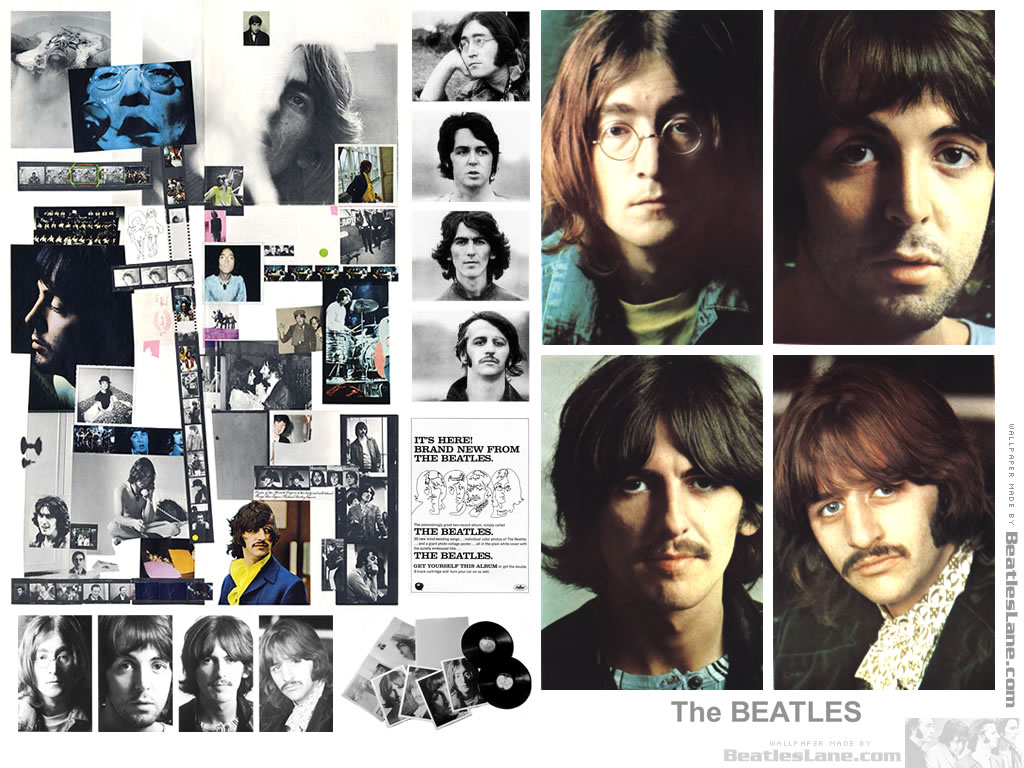 Beatles black and white poster
